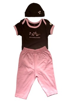 Hudson Baby Baby Bodysuit & Pant with Cap Set