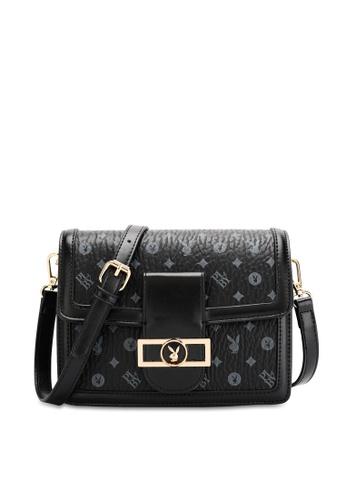 PLAYBOY BUNNY black Women's Sling Bag / Shoulder Bag / Crossbody Bag 94193ACC083108GS_1