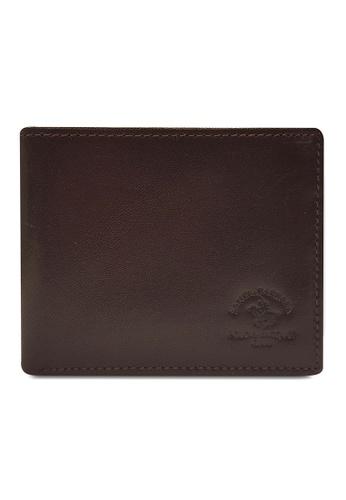 Santa Barbara Polo & Racquet Club brown Santa Barbara Luxurious Leather Bifold Wallet SA678AC0GQ9ESG_1