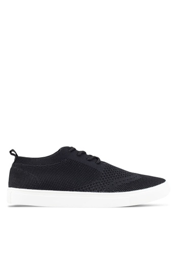 ZALORA black Casual Knitted Sneakers D5092SHB57155BGS_1