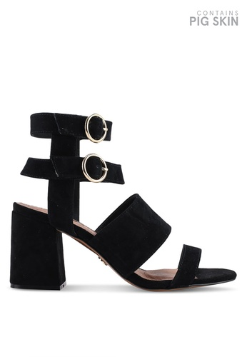 ffd5b1190ffa TOPSHOP black Nevada Multi Strap Heeled Sandals 6D390SHAC41725GS 1