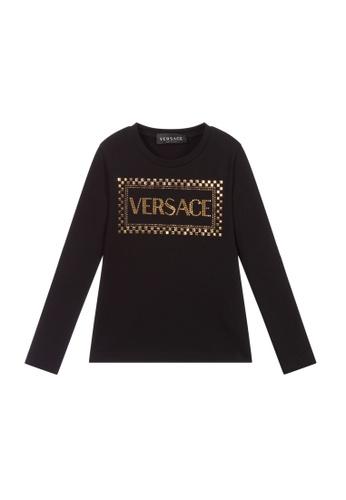 Versace black VERSACE TEEN GIRLS T-SHIRT 2F7CBKA0FF2984GS_1