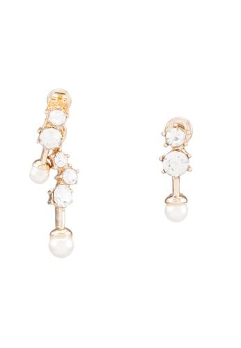 Red's Revenge gold Dangle Caviar Pearl Stud Earrings RE144AC0RRV2MY_1