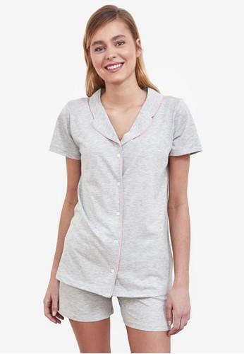 Trendyol grey 2-Piece Pajama Set CF276AAFCB828FGS_1