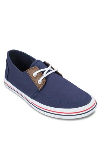 Norman 條紋繫帶運動鞋esprit分店, 鞋, 休閒鞋