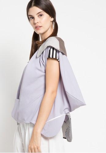 Oline Workrobe purple Shoulder Flapped Top OL983AA55FWQID_1