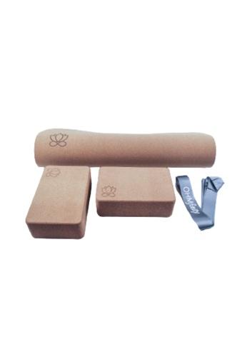 OHMfinity grey OHMfinity Yoga Bundle 1: Mat, Blocks & Strap - Grey 36055SEAE8978EGS_1