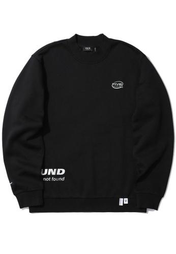 Fivecm black Logo mock neck sweatshirt 9064FAA92FBA35GS_1