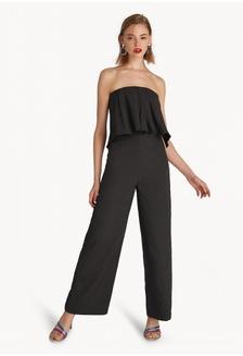 ecad2434890f Strapless Wide Leg Jumpsuit - Black B060EAA1A1A19CGS 1
