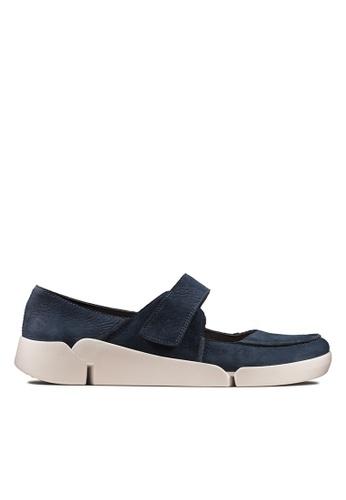 Clarks CLARKS Women's Casual Tri Jasmine Navy Nubuck Shoes 73741SHA7646E1GS_1