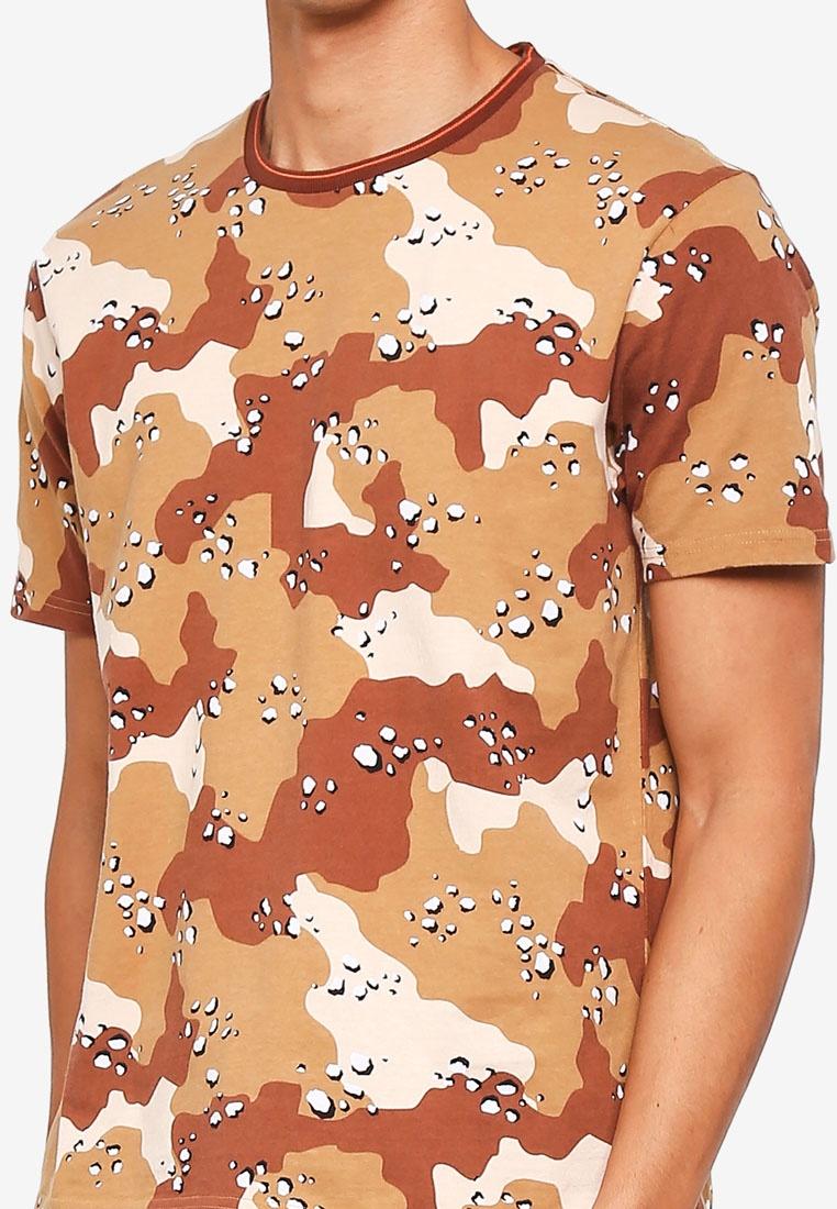 Yellow Shirt Topman Camouflage T Sand IwxqARg0q