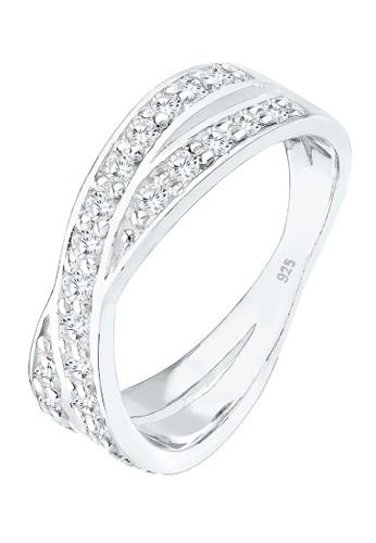 Elli Germany white Perhiasan Wanita Perak Asli - Silver Cincin Wraping Zirkonia Putih Putih 85BA2AC00C5DECGS_1