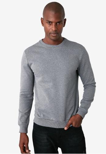 Trendyol grey Regular Crew Neck Sweatshirt 26674AA98BA714GS_1