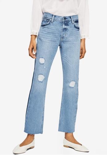 Mango blue Sayana Organic Cotton Straight Jeans E9AFCAA5BFFA88GS_1