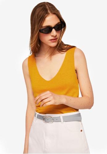 Mango yellow Fine Knit Top 204F7AAEC39F47GS_1