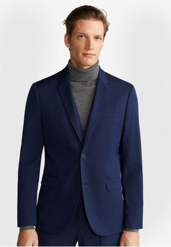 Mango Man blue Super Slim-Fit Tailored Blazer 62FE7AA67D077AGS_1