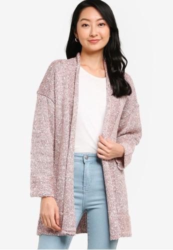 ZALORA BASICS 粉紅色 針織罩衫 6C67EAA042F54FGS_1