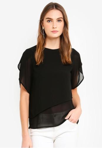 Vero Moda black Yrsa S/S Top 42502AA0159AA5GS_1