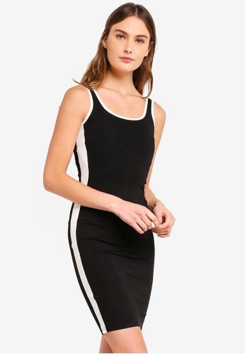 ZALORA BASICS black Basic Colourblock Bodycon Dress FC3E5AAB39CA40GS_1