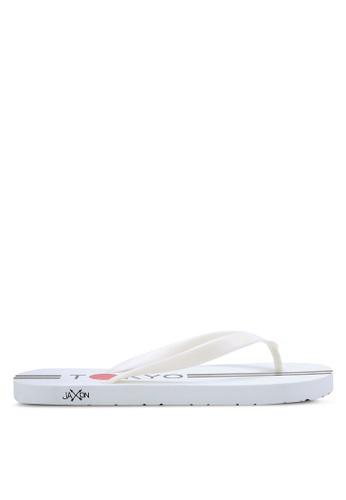 JAXON white Tokyo Flip Flops 34217SH9A2EF76GS_1