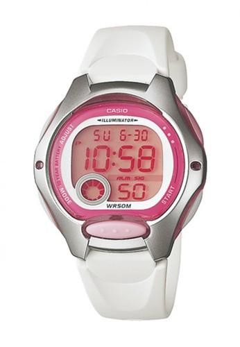 Casio white Casio Digital Jam Tangan Wanita - Putih - Strap Karet - LW-200 0719343696