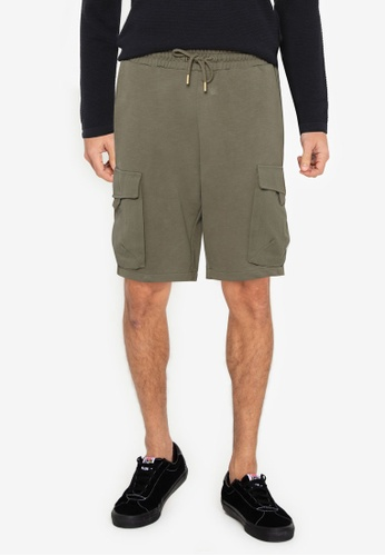 Only & Sons green ONSNICKY LIFE SWEAT SHORTS  NF 9126 26FF5AA4068638GS_1