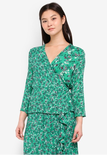 MbyM green and multi Ellwood Blouse 3A2EFAA939235EGS_1