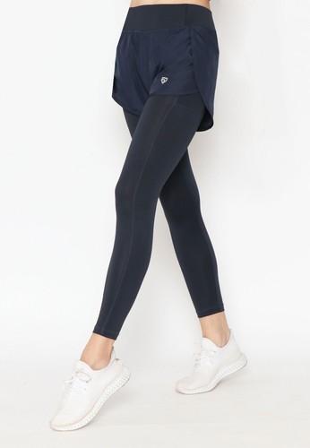 FITWEAR blue FITWEAR - CHELSIA CORE SERIES PANTS + INNER LEGGING - NAVY 6CB8AAA9B43FB2GS_1