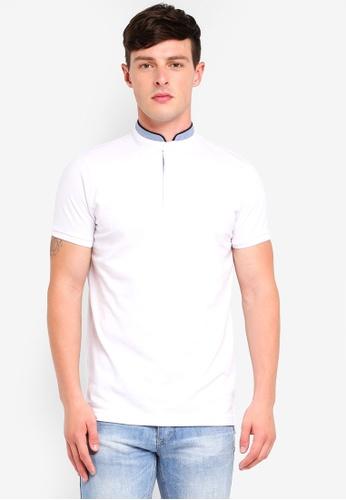 Brave Soul white Pique Polo Shirt D3248AA83FF7DDGS_1
