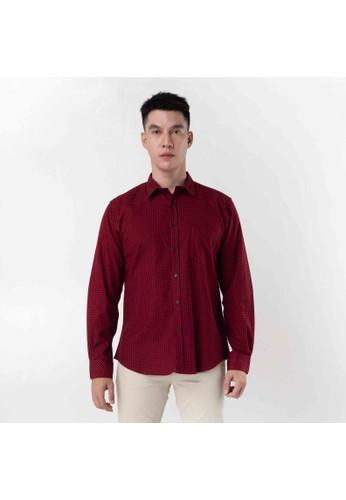 SCOTCH&CO red SCOTHCO Kemeja Pria Lengan Panjang Fergus Flanel Shirt Kotak Merah Garis Hitam 17837-38-11433 02091AA743FAC9GS_1