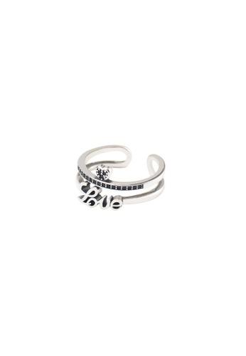 OrBeing 白色 Premium S925 Sliver Geometric Ring 7774CACA43E1D7GS_1