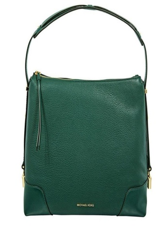 Michael Kors green Michael Kors Crosby Large Pebbled Leather Shoulder Bag - Racing Green 30H8GCBL3L-305 1DA76AC10E40EFGS_1