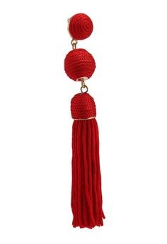 fed8a299e BaubleBar SUGARFIX by BaubleBar - Monochrome Tassel Drop Earrings HK$  129.00. Sizes One Size