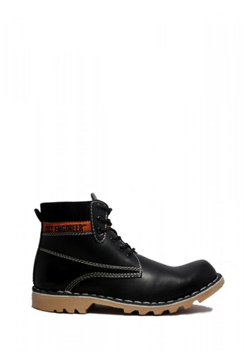 Cut Engineer black Cut Engineer Safety Boots Iron Prospector Leather Black 8CCC9SH9C61873GS_1