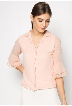Kaira Flutter Sleeve Top