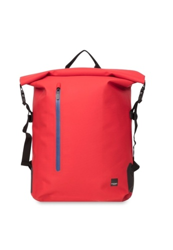 "knomo red Cromwell 15"" Roll Top Backpack (Formula One) 9A81BACBE657B1GS_1"