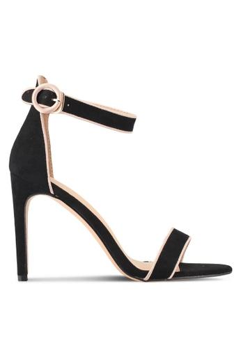 Something Borrowed black Contrast Open Toe Heel A6E46SH9383390GS_1