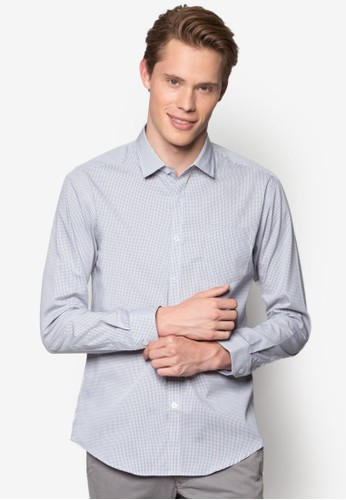 esprit 澳門素色長袖襯衫, 服飾, 印花襯衫