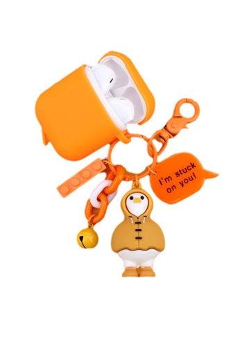 Kings Collection orange Cute Duck Keychain AirPods Case (KCAC2067) 9E814AC9C2EB70GS_1