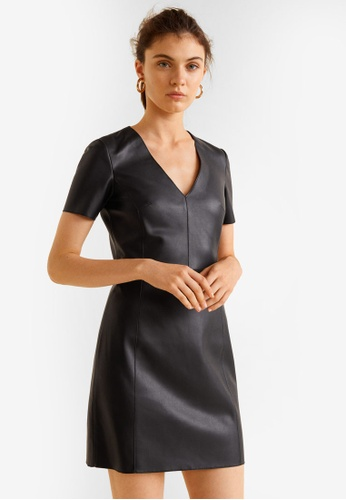 Mango black Seam Bodycon Dress E2F94AABB0C895GS_1