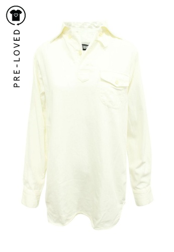Reformation beige Pre-Loved reformation Off-White Shirt Dress C925CAAF7CCAA3GS_1