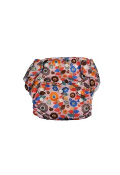Printed Cloth Diaper with 2 inserts - Retro Flower