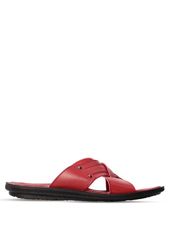 Tony Perotti red Tony Perotti Sandal Albert - Maroon TO890SH0VNFOID_1