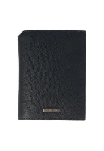 CROSSING black Crossing Rainforest Card Holder - Indian Ink/Neutral Grey D39FAAC01321B8GS_1