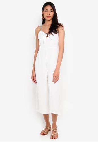 Glamorous 白色 綁帶連身褲 2C725AABB87201GS_1