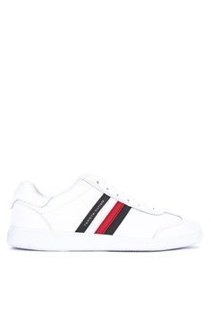 1c528bbdaa533 Tommy Hilfiger white Essential Corporate Sneakers 4F9EASH2E5AB83GS 1
