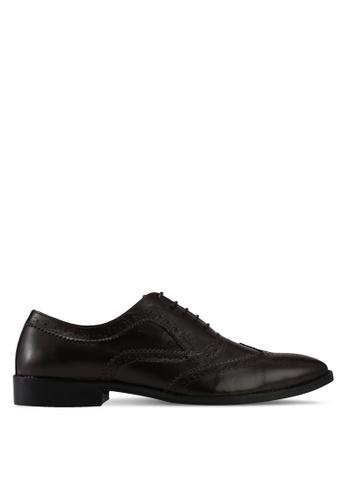 ACUTO brown Leather Dress Shoes AC283SH0SL6EMY_1