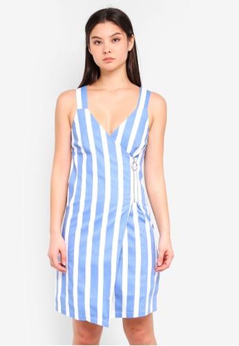 ICHI blue Defca Dress F7FA4AA8079167GS_1
