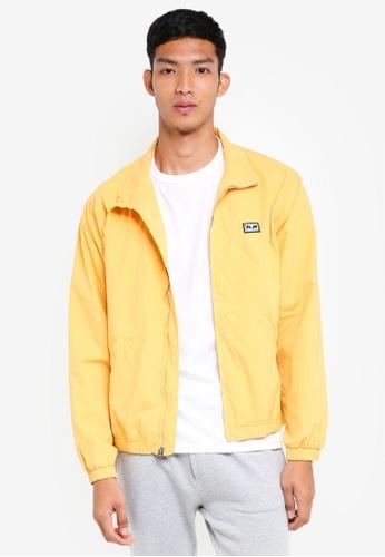 OBEY 黃色 休閒高領夾克外套 555EDAAD1C9553GS_1