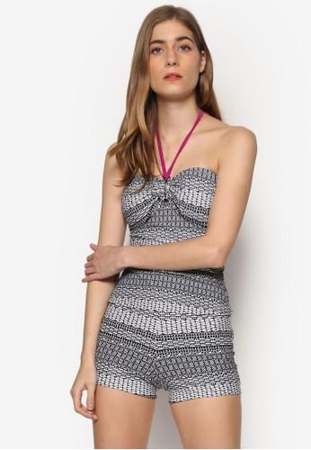 Renessa esprit 手錶印花繞脖泳衣組合, 服飾, 泳褲及沙灘造型